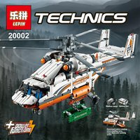 Wholesale In Stock LEPIN Technic Heavy Lift Helicopter Building Blocks Set Minifigures Bricks Christmas Gift Clone