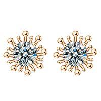 amazon earring - Amazon explosion fashion high end OL big AAA zircon crystal earrings female ear jewelry