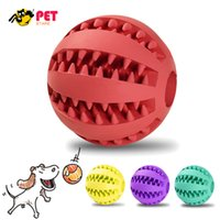Wholesale Dog Toys Interactive CM Rubber Watermelon Pattern Ball Natural Non toxic Pet Puppy Bite Resistant Teeth Cleaning Chew Toy