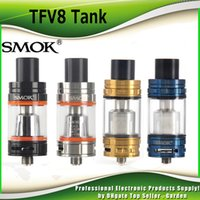 Wholesale Authentic SMOK TFV8 Cloud Beast Tank ml with V8 T8 Octuple Coil V8 Q4 Quadruple Coils Head smoktech TFV8 Glod Blue Tank DHL Free