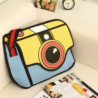 artwork animation - The new personalized Animation D stereo camera bag creative fashion casual shoulder bag factory