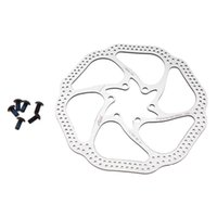 Wholesale 1Pcs Stainless Steel MTB Disc Brake Rotor mm Mountain Bike Bicycle Cycling Disc Brake Rotors Holes Rotor With Screws