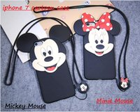 apple mouse sale - For iPhone Cute Cartoon D Mickey Minnie Mouse Lover Case Soft Silicone hot sale Back Cover Shell for iPhone S plus cell phone