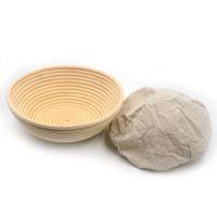 Wholesale 2016 Hot Sale Handmade Crafts Bread Basket x8 cm Round Banneton Brotform Dough Bread Proofing Proving Rattan Basket
