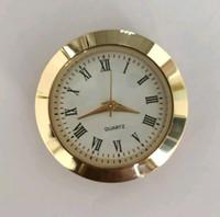 Wholesale 30mm mini insert clock watch japanese pc21 movement gold metal fit up clock insert roman numerals