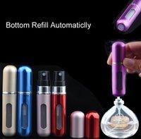 Wholesale 5ml Mini Portable Refillable Perfume Atomizer BOTTOM REFIIL AUTOMATICLLY Spray Empty Perfume Bottles Travel Size