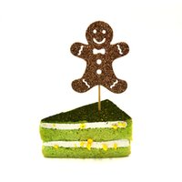 Wholesale Custom Christmas Gingerbread Man Cake Toppers Decorations Hight Quality Gingerbread Man Cupcake Toppers For Christmas Decoration