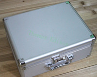 Wholesale mm Aluminum alloy tool box equipment display case file storage box portable cipher lock case