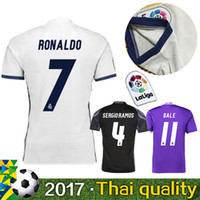 bayer thailand - 2016 AAA Thailand the best quality jersey Reals Madrides jersey Ronaldo Benzema football clothes