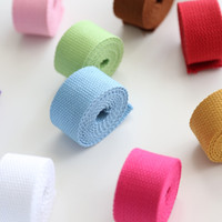 belt webbing wholesale - 30mm DIY Cloth Cotton Plain Thickening Knitted Ribbon Webbing for Bag Sewing Notions Knapsack Belt