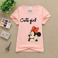 Wholesale 2017 New Clothes Children baby Boys Girls colors Print mouse T Shirts Kids Baby Clothing Boys Girls Short Sleeve Tops