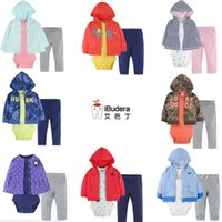 Wholesale 2016 New Fashion Baby Boy Girl Clothing Set Rompers Pants Coat Infant Newborn Baby Girls Clothes Suit Roupas De Bebe Jumpsuit