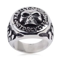 Wholesale MOTOCYLE SKULL BIKER RING stainless steel rings for men hight quality men s jewelry for