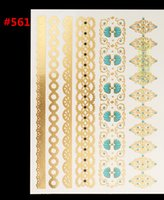 art hair products - Gold flash metal buds silking body hair woman body art painting temporary tattoo sticker label products