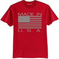 Canvas american made tee shirts - 2017 Made In USA Flag American Men T Shirt USA Tshirt Tshirts Tees T Shirt Trump UNITED STATES Mens T Shirts Fashion