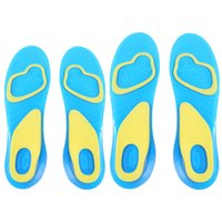 Wholesale 1 Pair Orthotic Arch Support Massaging Silicone Anti Slip Gel Soft Sport Insole Pad Foot Care For Man Women Size S L