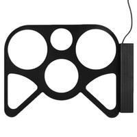 Vente en gros et en gros Portable USB PC électronique de bureau Roll Up Drum Kit Pad Set Tambour Sticks pédale