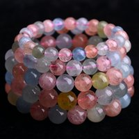 beryl crystals - Brazil natural candy color Morgan Stone Bracelet female beryl crystal hand lap on special offer