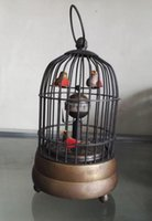 antique chinese clocks - Chinese Bird Style Old Copepr Mechanical clock