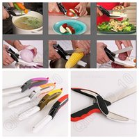 Wholesale Clever Cutter Colorful in Kitchen Knife Cutting Board Scissors Stainless Steel Kitchen Food Cutter For Meat Vegetable OOA962