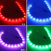 Wholesale High Quality Colors Led Shoes Lights Usb Rechargeable Led Strip Light Colorful Flashing with Usb Charge