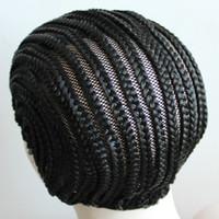 Wholesale Easier To Sew In Cornrow Braided Wig Cap Cornrow Wig Caps For Making Wigs With Elastic Band Braided Caps For Weave Wig