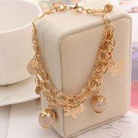 Wholesale Fashion K Gold Plated Bracelets For Women Simulated Pearl Jewelry Charm butterfly Pendant Bracelets Bangles Luxury Jewlery