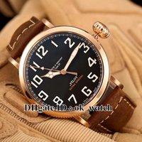 NOUVEAU arrivé Marque de luxe Pilot Mens Montre automatique de haute qualité Rose gold 29.2430.679 / 21.C753 montres sport pour hommes marron Bracelet en cuir