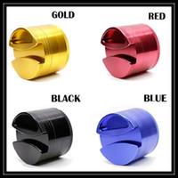 aluminum alloy parts - Aluminum Alloy Grinder Layer Parts mm Large Size with Herb Container Storage Box Put Rolling Papers Smoking Crusher Grinders