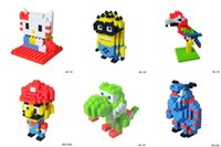 Wholesale Mini cartoon characters blocks D Building Blocks lovely Model Building Kits kid educational toy No