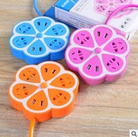Wholesale The new two generation of lemon fruit socket smart USB rechargeable desktop board with multi function switch socket