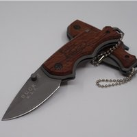 Wholesale Buck X44 Multi function Folding Blade Knife Steel Wood Handle Survival Tactical Hunting Knives Outdoor Camping Pocket EDC Tools