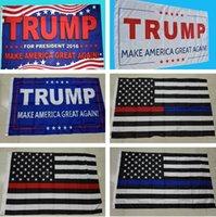 Wholesale Donald Trump Flag Make America Great Again Donald for President USA cm free DHL b251