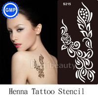 Wholesale piece Airbrush Stencil Flower Indian Arabic designs for Body Painting Henna Tattoo Stencils no paste Accesories Kit bride S215