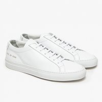 Wholesale Common Projects by women Black white low top Shoes Men Women Genuine Leather Casual Shoes flats Chaussure Femme Homme