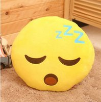 Wholesale Yellow Round Car Cushion Soft Plush Home Decor Emoji Pillow In Factory