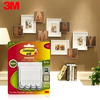 Wholesale Removable Magic Picture Frame Hanging Command Hook Strips Wall Sticker Tools