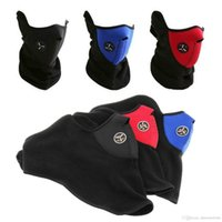 Wholesale 2017 Windproof Cotton motorcycle Harf Face Mask Skull Neck Guard Masks Hiking Outdoor Sports Cycling Masks