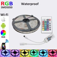 Wholesale m RGB led strip smd waterproof Flexible strip150leds m christmas Led Strip lighting WiFi Music Controller iOS Android