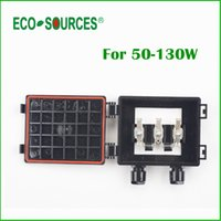 Wholesale ECO SOURCES W Solar Junction Box waterproof IP65 for Solar Panel connect PV Junction Box Solar Cable Connection With Diode