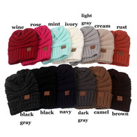 Wholesale In stock Multicolors Women Men cc hats knitted brand beanie caps Winter Christmas Gifts hats for adults