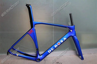 Wholesale 2016 New Blue T1000 UD Glossy MatteFull Carbon Road Bicycle Frame cm available BB386 BB30 or BB68 adapter