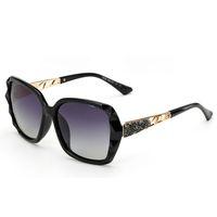 al por mayor marco de definición-La alta definición del diseño del nuevo diseño polarizó las gafas de sol de las mujeres de la manera Marco la forma de la joyería del patrón del diamante del espejo