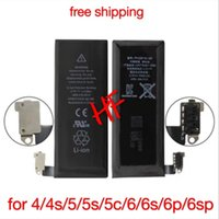 Wholesale New Internal Replacement V Li ion Battery For iPhone g s c plus s splus free ups shipping