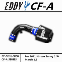 Wholesale For NISSAN Versa March Fine Quality China Brand EDDYSTAR EDDY CF A Carbon Fiber Cold Air Intake System Air Filter