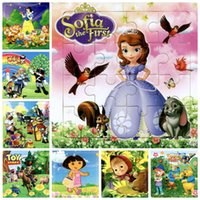 animated animal images - 1 piece The animated cartoon wooden puzzle children baby toys gifts Princess animals cartoon images cars robots cm