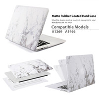 Wholesale Classic White Marble Painting Matte Rubber Coated Hard Case for MacBook Air MacBook Pro13 Marble Design Keyboards Cover optional