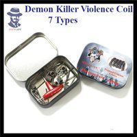 Wholesale Authentic Demon Killer Violence Coil Alien V2 Staple Staggered Fused Framed Spaced Tsuka Tri twisted Clapton Clapception Wire Vape Types