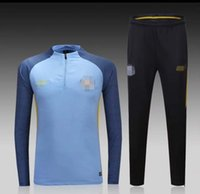 Wholesale Customized Thai Quality Latest ManchesterCity Sky Blue Training Clothing Embroidery