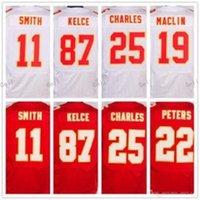 Los hombres 2017 cosieron los jerseys # 22 Marcus Peters # 87 Travis Kelce # 11 <b>Alex Smith</b> # 25 Envío de la jalón de Jamaal Charles # 50 Justin Houston